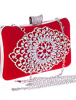 cheap -Women Bags Polyester Evening Bag Crystal Detailing for Wedding Event/Party All Season Fuchsia Red Black Gold Blue