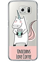 cheap -Unicorn Cartoon Pattern Soft Ultra-thin TPU Back Cover For Samsung GalaxyS7 edge/S7/S6 edge/S6 edge plus/S6/S5/S4