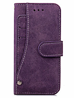 abordables -Funda Para Apple iPhone X iPhone 8 iPhone 8 Plus iPhone 7 Plus iPhone 7 Soporte de Coche Cartera Funda de Cuerpo Entero Color sólido Dura