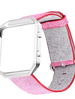 cheap -Sports Woven Nylon Watch BandColorful Metal Frame 2 in 1 Watch Case Band for Fitbit Blaze