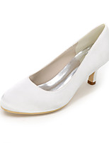 cheap -Women's Shoes Satin Spring Summer Basic Pump Wedding Shoes Null Stiletto Heel Round Toe Null Side-Draped / for Wedding Party & Evening