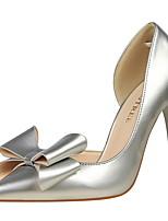 baratos -Mulheres Sapatos Couro Ecológico Primavera Verão Plataforma Básica Conforto Saltos Salto Agulha Dedo Fechado Dedo Apontado Laço para