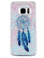 cheap -Dreamcatcher Pattern Glitter Quicksand Phone Case For Samsung Galaxy S6 S7 edge