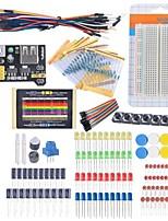 Starter Beginner Kit Breadboard Cable Resistor Capacitor LED Potentiometer for Arduino Learning Kit