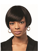 Women Synthetic Wig Straight Black Natural Wigs Costume Wig