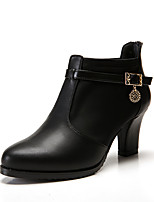 Women's Boots Comfort Bootie Real Leather Synthetic Microfiber PU Fall Winter Office & Career Party & Evening Dress Stiletto HeelWine