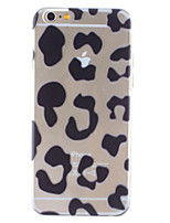 Para Funda iPhone 6 / Funda iPhone 6 Plus Transparente / Diseños Funda Cubierta Trasera Funda Estampado Leopardo Dura PolicarbonatoiPhone