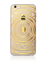 cheap -Case For Apple iPhone X iPhone 8 Plus iPhone 5 Case iPhone 6 iPhone 7 Translucent Pattern Back Cover Mandala Soft TPU for iPhone X iPhone