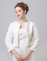 Faux Fur Imitation Cashmere Wedding Party Evening Women's Wrap With Pattern Shrugs
