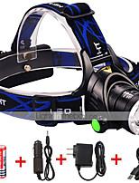 Недорогие -Светодиодные фонари Светодиодная лампа 1600 lm 3 Режим LED с батарейками и зарядными устройствами Масштабируемые Фокусировка Ударопрочный
