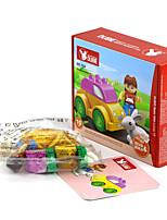 Недорогие -Конструкторы Для получения подарка Конструкторы Rabbit / Автомобиль Пластик Выше 3 Радужный Игрушки