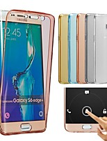 billige -For Samsung Galaxy etui Transparent Etui Bagcover Etui Helfarve TPU for Samsung A7(2016) A5(2016) A3(2016)