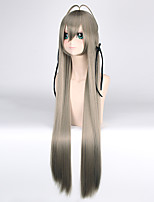 100CM Straight Long Length New Green Color Dull Blue Synthetic Wig High Tempurature Kasugano Sora Anime Lolita Cosplay Wigs