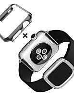economico -fascia di orologio per la cinghia della fascia di ricambio del cuoio genuino dell'inarcamento della vigilanza di mela con la cassa