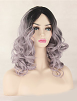 Fashion Natural Black To Grey Color Curly Wig Synthetic Cosplay Wigs