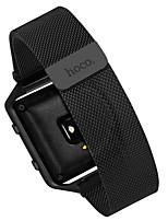 Недорогие -Черный / Серебристый Нержавеющая сталь Миланский ремешок Для Fitbit Смотреть 23мм