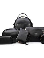 Women Bags All Seasons PU Bag Set Zipper for Casual Outdoor Blue White Black Silver Blushing Pink