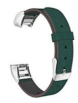 Недорогие -Кофе / Черный / Зеленый / Коричневый Кожа Спортивный ремешок / Миланский ремешок Для Fitbit Смотреть 20мм