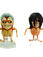 Attack on Titan PVC 8cm Anime Action Figures Model Toys Doll Toy 1set