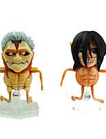 Attack on Titan Cosplay PVC 8cm Anime Action-Figuren Modell Spielzeug Puppe Spielzeug