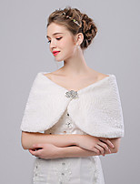 cheap -Faux Fur Imitation Cashmere Wedding Party Evening Women's Wrap With Rhinestone Capelets