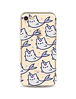 abordables -Funda Para Apple iPhone X iPhone 8 Plus Funda iPhone 5 iPhone 6 iPhone 7 Traslúcido Diseños Funda Trasera Unicornio Suave TPU para iPhone