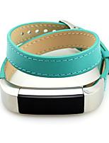 Недорогие -Красный / Черный / Зеленый / Синий / Коричневый / Розовый Кожа Классическая застежка Для Fitbit Смотреть 10mm