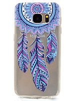 cheap -Dreamcatcher Pattern TPU High Purity Translucent Openwork Soft Phone Case for Samsung Galaxy S7 Edge S7 S5 S5MINI