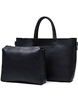 Donna Sacchetti Per tutte le stagioni PU (Poliuretano) sacchetto regola Set di borsa da 2 pezzi per Casual Nero Grigio Blu