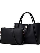 Donna Sacchetti Per tutte le stagioni PU (Poliuretano) sacchetto regola Set di borsa da 2 pezzi per Casual Nero Grigio Rosso