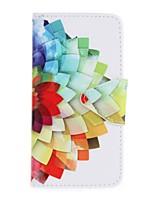 Недорогие -Кейс для Назначение SSamsung Galaxy A5(2016) A3(2016) Кошелек Бумажник для карт со стендом С узором Чехол Цветы Твердый Искусственная кожа