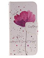 abordables -Para Cartera / Soporte de Coche / con Soporte / Flip / Diseños Funda Cuerpo Entero Funda Flor Dura Cuero Sintético Samsung J3 (2016) / J3