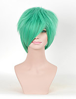 cheap -Synthetic Wig Curly Synthetic Hair Green Wig Women's Medium Length Green