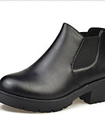 cheap -Women's Boots Spring / Fall / Winter Fashion Boots Leatherette Dress / Casual Chunky Heel Zipper Black / Silver Others