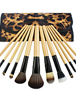 cheap -Professional Makeup Brushes Makeup Brush Set 12 Portable Professional Wood for