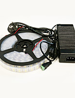 abordables -5 m Sets de Luces 600 LED 5050 SMD Blanco Cálido / Blanco Impermeable 100-240 V / IP65