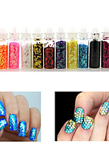 cheap -12 Colors Hexagon Glitter Shape Sequins Powder Nail Art Decorations