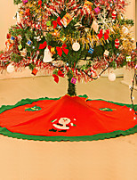 Decoracion Navidad Christmas Decorations For Home Straight Edge 90CM Non-Woven Christmas Tree Skirt Aprons