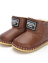 Baby Flats Comfort Fashion Boots Leather Winter Casual Outdoor Hook & Loop Flat Heel Champagne Dark Brown Black Flat
