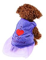 Hund Kjoler Hundetøj Fest Fødselsdag Afslappet/Hverdag Bryllup Mode Prinsesse Lilla Lys pink