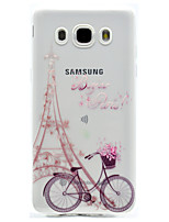 cheap -Tower Pattern TPU High Purity Translucent Openwork Soft Phone Case for Samsung Galaxy J310 J510 J710 G530 G360