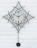 Modern/Contemporary Houses Wall ClockOthers Acrylic / Glass / Iron / Metal 60*83cm Indoor Clock