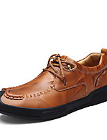 cheap -Men's Shoes Real Leather Cowhide Spring Fall Comfort Oxfords for Casual Office & Career Wine Brown Black