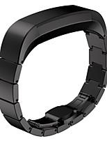 Недорогие -Черный / Роуз / Золотистый / Серебристый Нержавеющая сталь Спортивный ремешок Для Fitbit Смотреть 10mm