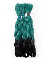Jumbo Hair Braid Havana Crochet Ombre Braiding Hair 100% Kanekalon Hair Black/Green Black/Purple Black/Blue Black/Red Black/Grey 24