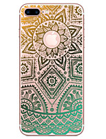 economico -Per iPhone X iPhone 8 iPhone 7 iPhone 6 Custodia iPhone 5 Custodie cover Transparente Decorazioni in rilievo Fantasia/disegno Custodia