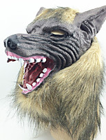 Halloween Creepy Rubber Animal Mane Werewolf Wolf Head Mask Halloween Masquerade Cosplay Party Costume Prop