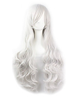 cheap -Synthetic Hair Wigs Wavy Carnival Wig Halloween Wig Cosplay Wig White