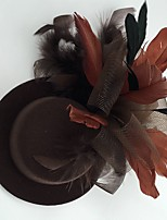 cheap -Feather / Fabric / Net Fascinators / Hats with 1 Wedding / Special Occasion / Casual Headpiece