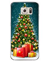 Недорогие -Кейс для Назначение SSamsung Galaxy S7 edge / S7 Полупрозрачный / С узором Кейс на заднюю панель Рождество Мягкий ТПУ для S7 edge plus / S7 edge / S7